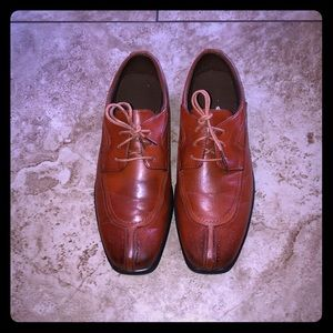 Men's size 7 dress shoes - from Deer Stags, brown